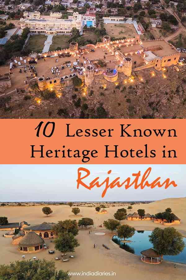Lesser Known Heritage Hotels in Rajasthan