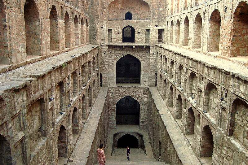 Agrasen ki baoli is one of the most famous stepwells in India.